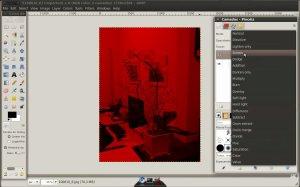 Imagem na cor vermelha